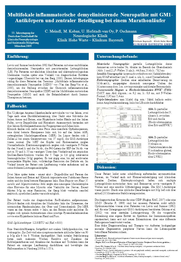 Multifokale inflammatorische demyelinisierende Neuropathie mit GM1- Antikörpern und zentraler Beteiligung bei einem Marathonläufer C.