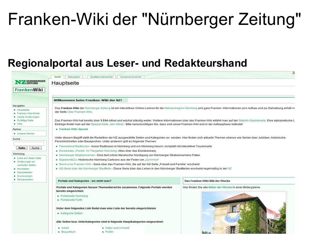 Franken-Wiki der Nürnberger Zeitung Regionalportal aus Leser- und Redakteurshand