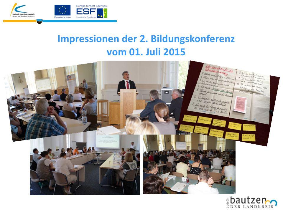 Impressionen der 2. Bildungskonferenz vom 01. Juli 2015