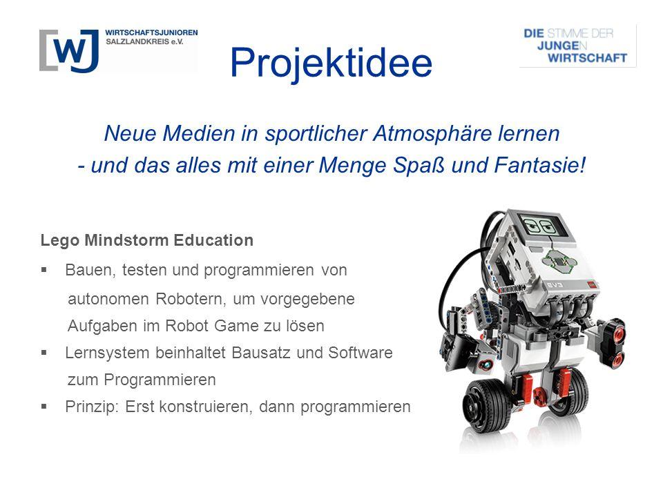 Neue Medien in sportlicher Atmosphäre lernen - und das alles mit einer Menge Spaß und Fantasie! Lego Mindstorm Education  Bauen, testen und programmi