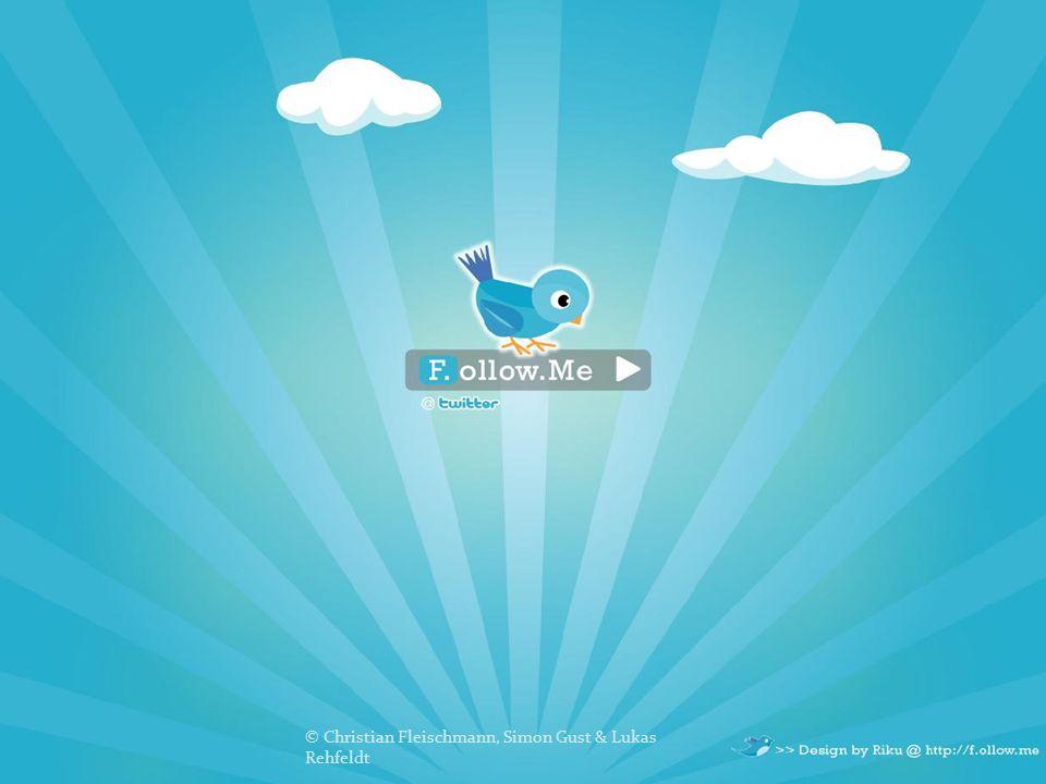 """1.Simple Tweet: Update an +447624801432, via txt 2.Direct Message: """"d + Username , auf Schreibweise achten 3.Favourite Tweets: """"fav + """"Username -> gespeichert 4.Follow: """"follow + """"Username -> following- list 5.Stop following: """"leave + """"Username -> löschen © Christian Fleischmann, Simon Gust & Lukas Rehfeldt"""