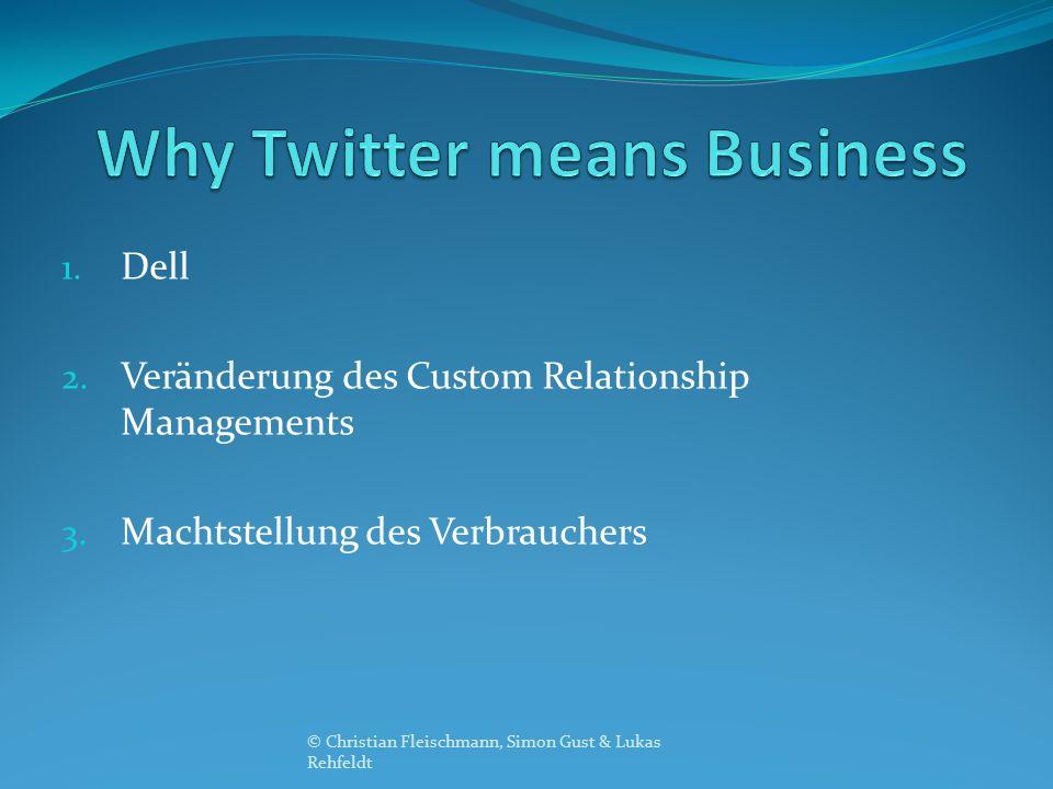 1. Dell 2. Veränderung des Custom Relationship Managements 3. Machtstellung des Verbrauchers © Christian Fleischmann, Simon Gust & Lukas Rehfeldt