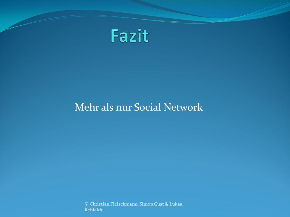 Mehr als nur Social Network © Christian Fleischmann, Simon Gust & Lukas Rehfeldt