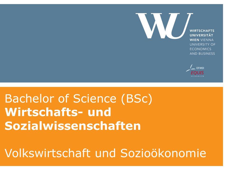 Bachelor of Science (BSc) Wirtschafts- und Sozialwissenschaften Volkswirtschaft und Sozioökonomie