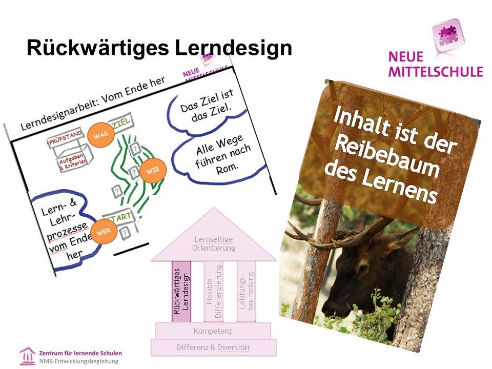 Rückwärtiges Lerndesign