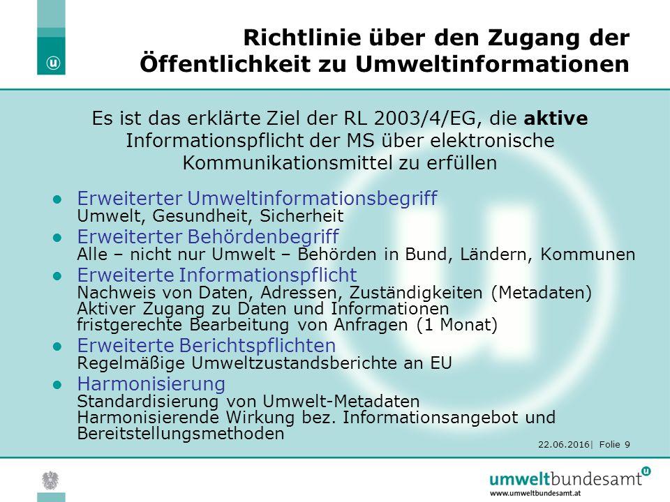 22.06.2016  Folie 30 UW-UI: 1.AG – Tagung 25.-26.4.2007 Auftrag der LURK vom 23.3.2007 1.