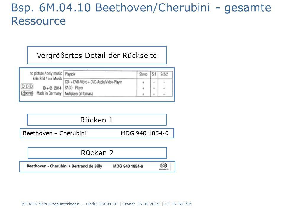 Bsp. 6M.04.10 Beethoven/Cherubini - gesamte Ressource AG RDA Schulungsunterlagen – Modul 6M.04.10 | Stand: 26.06.2015 | CC BY-NC-SA Vergrößertes Detai