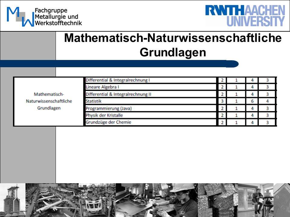 Mathematisch-Naturwissenschaftliche Grundlagen
