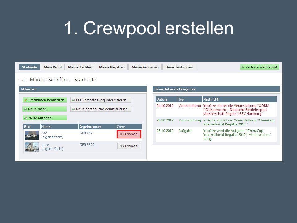 1. Crewpool erstellen