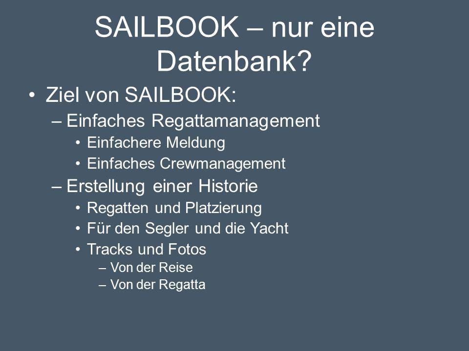 SAILBOOK – nur eine Datenbank.