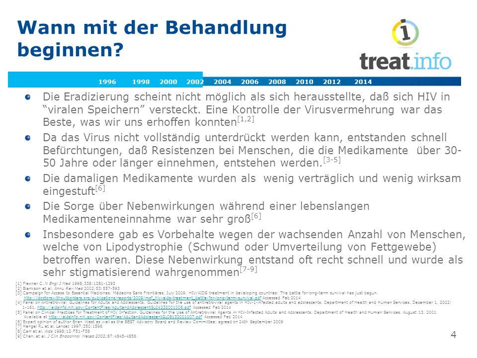 Europäische and nationale Leitlinien [1] European AIDS Clinical Society (EACS).
