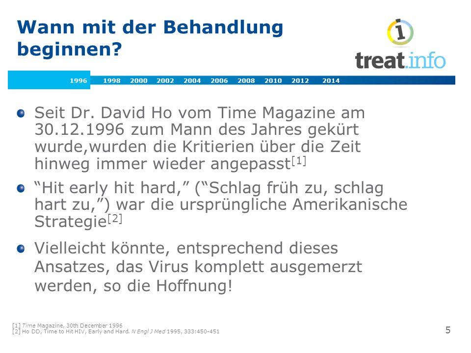 Wann beginnen: Späterer Therapiebeginn CD4 Zellzahl Früher Therapie- beginn 1997-2000 Vor-HAART Ära 1987-1996 500 Dreifach- kombination Viruseradiktion 300- 350 DHHS [1] BHIVA [2,3] 200 Späterer Therapie- beginn 2001-2007 350 Virus- unterdrückung Potente Medikamente, abwarten bis nötig.