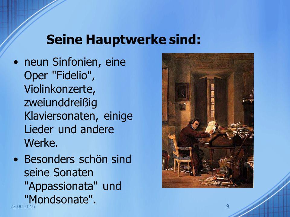 Beethoven komponiert die Sechste Sinfonie 22.06.2016 10