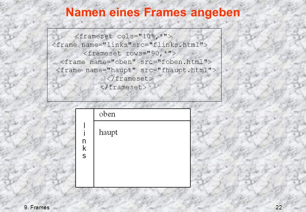 9. Frames22 Namen eines Frames angeben