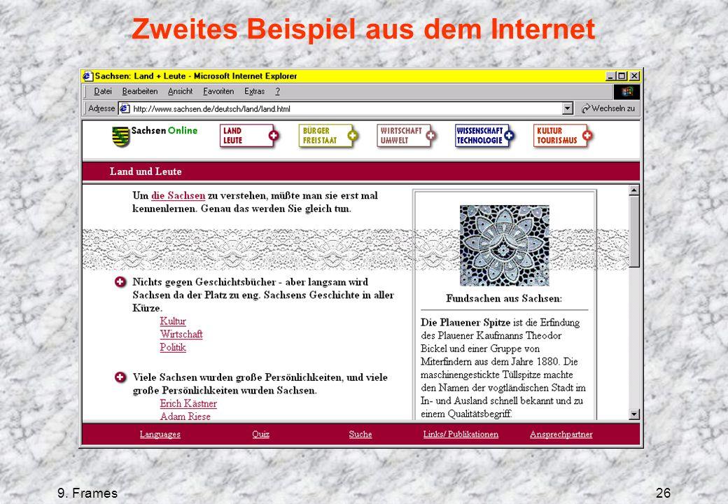 9. Frames26 Zweites Beispiel aus dem Internet