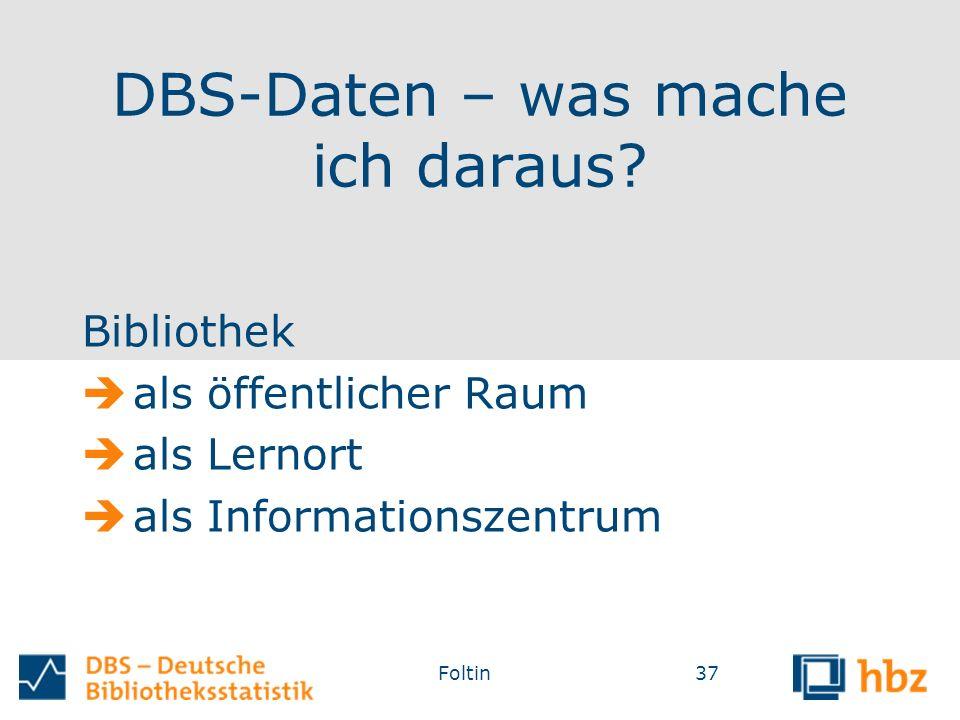 DBS-Daten – was mache ich daraus.
