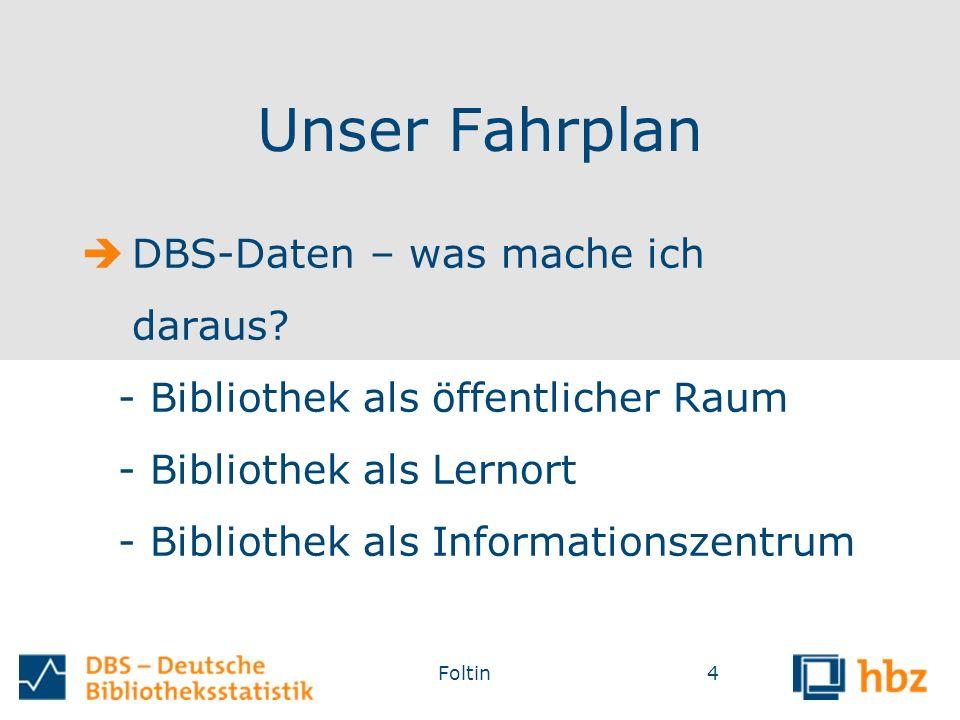 Unser Fahrplan  DBS-Daten – was mache ich daraus.