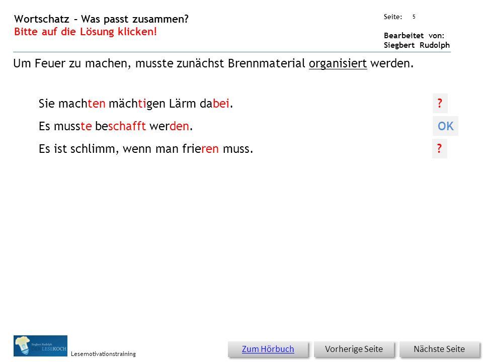 Übungsart: Seite: Bearbeitet von: Siegbert Rudolph Lesemotivationstraining 4 04 Hunger oder Kälte – bitte klicken.