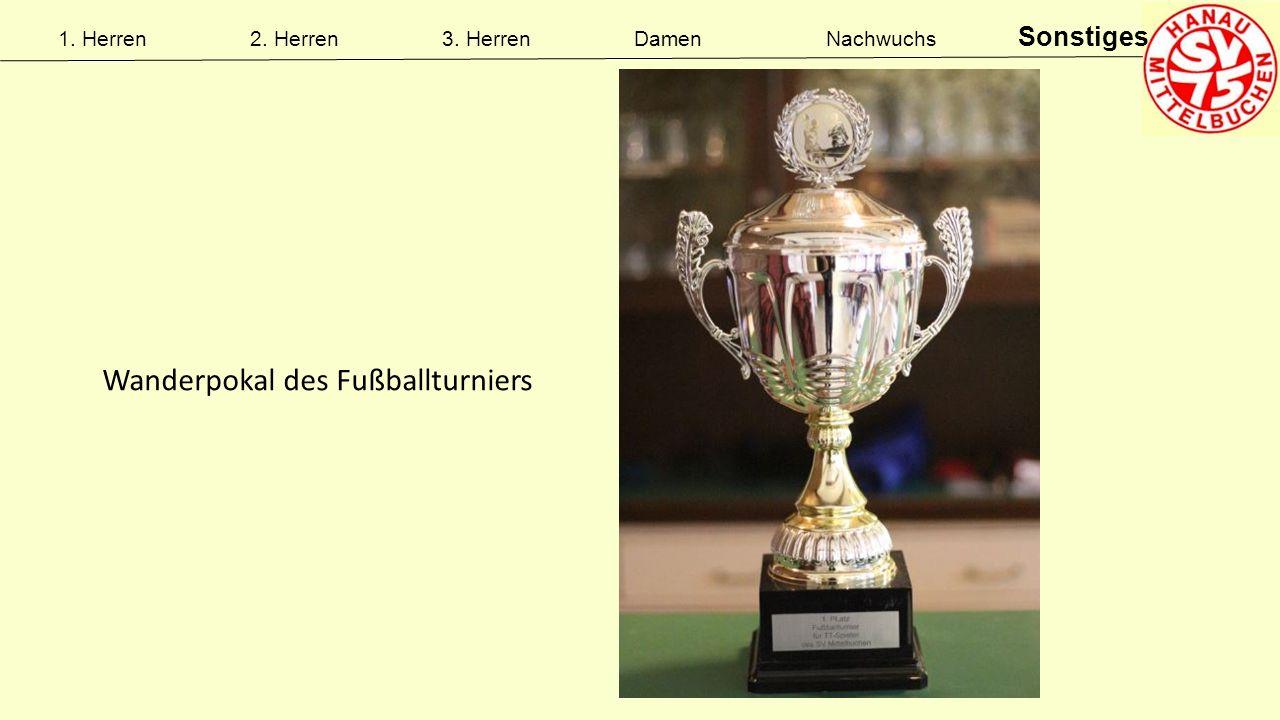 1. Herren2. Herren3. HerrenDamenNachwuchs Sonstiges Wanderpokal des Fußballturniers