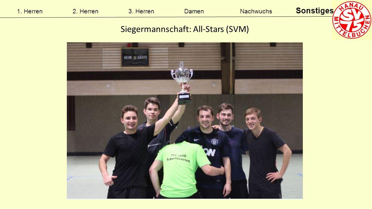 1. Herren2. Herren3. HerrenDamenNachwuchs Sonstiges Siegermannschaft: All-Stars (SVM)
