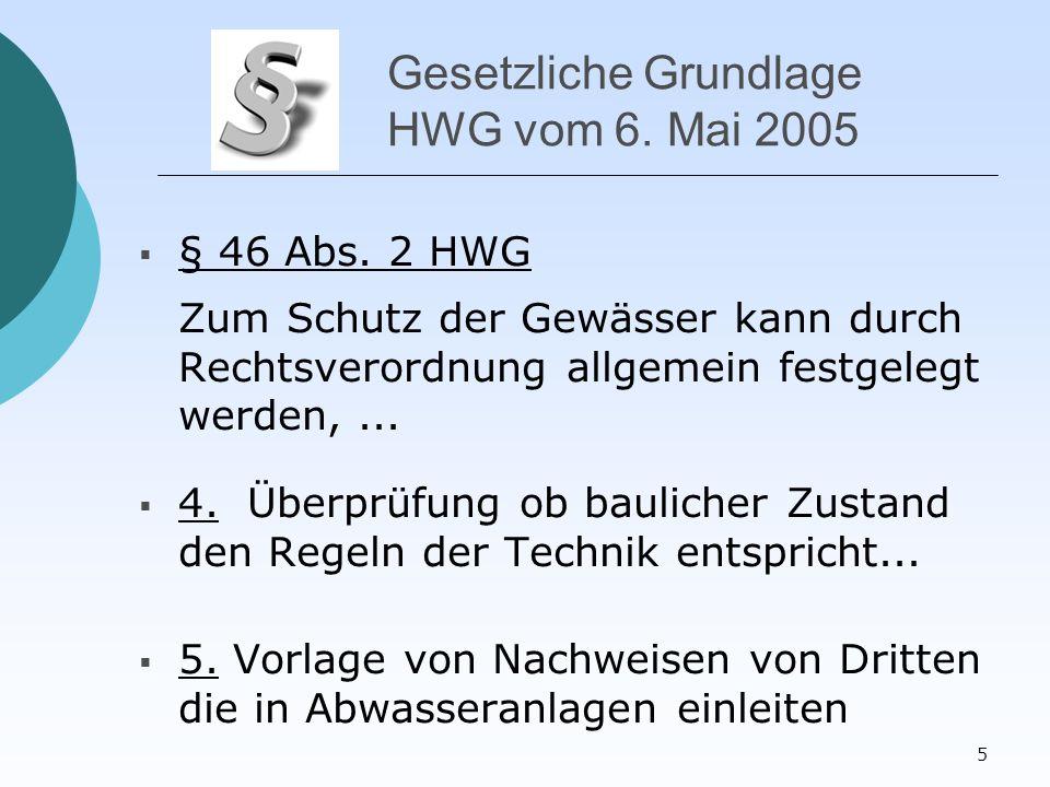 5 Gesetzliche Grundlage HWG vom 6. Mai 2005  § 46 Abs.