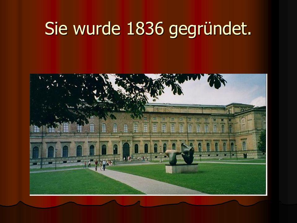 Sie wurde 1836 gegründet.