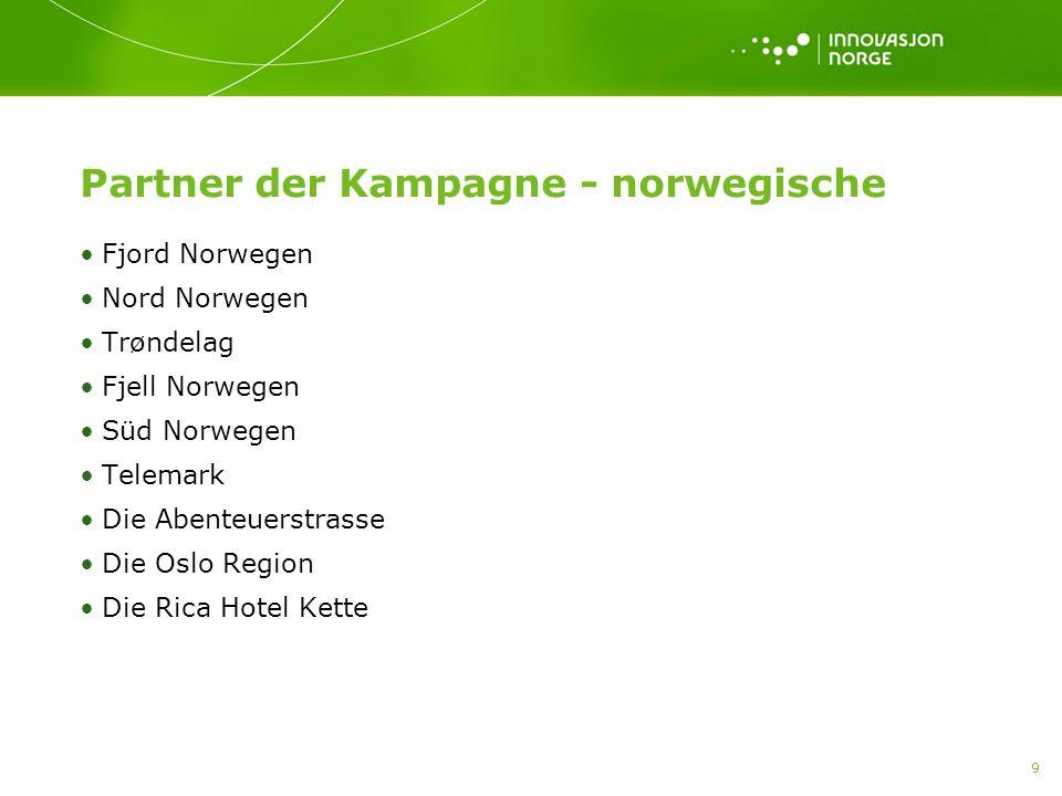 10 Partner der Kampagne - deutsche Color Line Hurtigruten TUI Wolters Dertour TrollTours Lufthansa