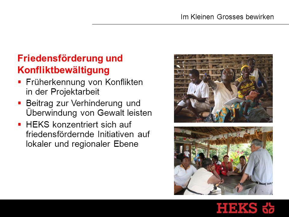 Im Kleinen Grosses bewirken Humanitäre Hilfe Vier Bereiche  Vorbereitung auf mögliche Katastrophen  Nothilfe  Wiederaufbau und Rehabilitation  Prävention von Katastrophen Grundsatz  Nachhaltigkeit durch Wieder-aufbau von Lebensgrundlagen und sozialen Strukturen