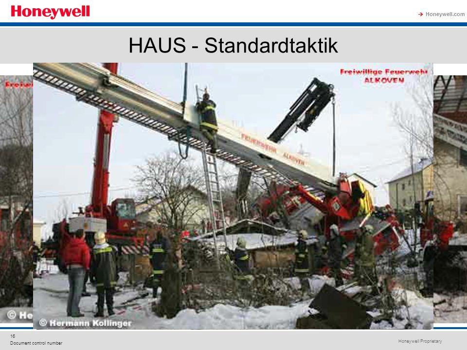 Honeywell Proprietary Honeywell.com  16 Document control number HAUS - Standardtaktik
