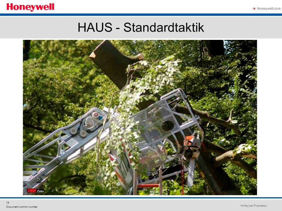 Honeywell Proprietary Honeywell.com  19 Document control number HAUS - Standardtaktik