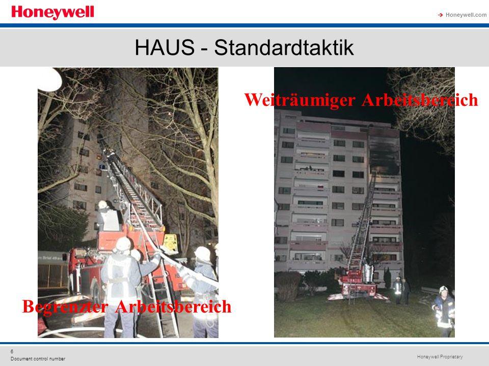 Honeywell Proprietary Honeywell.com  6 Document control number HAUS - Standardtaktik Begrenzter Arbeitsbereich Weiträumiger Arbeitsbereich