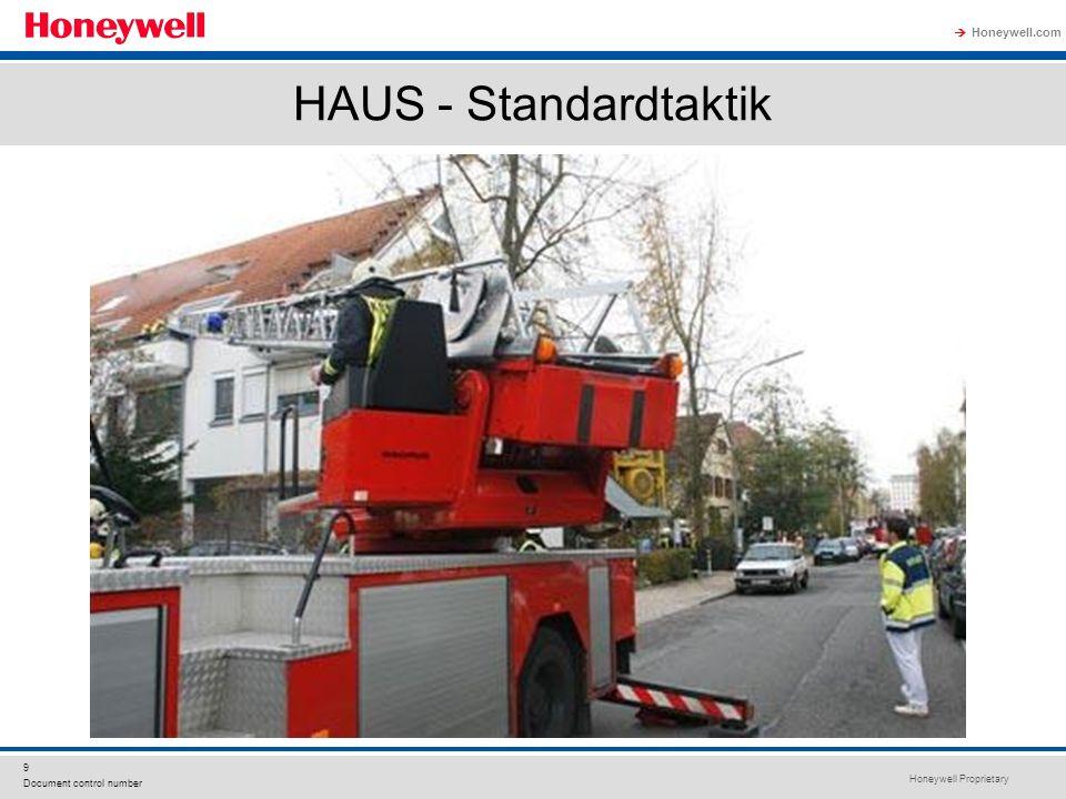 Honeywell Proprietary Honeywell.com  9 Document control number HAUS - Standardtaktik