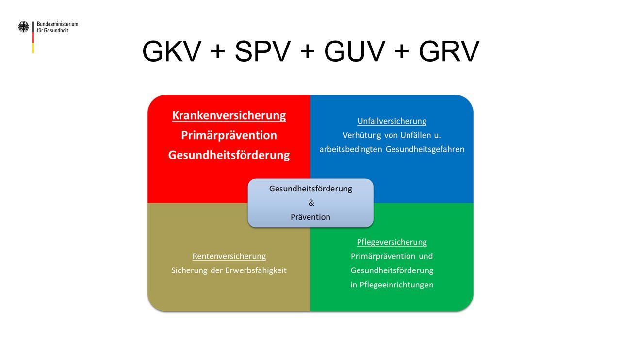 GKV + SPV + GUV + GRV