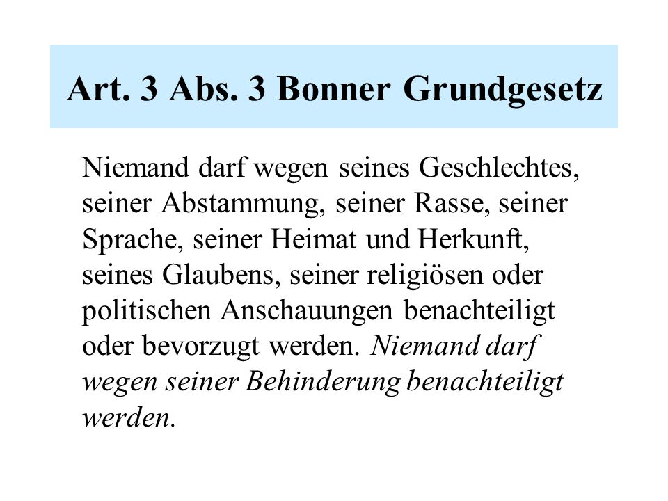 Art.3 Abs.