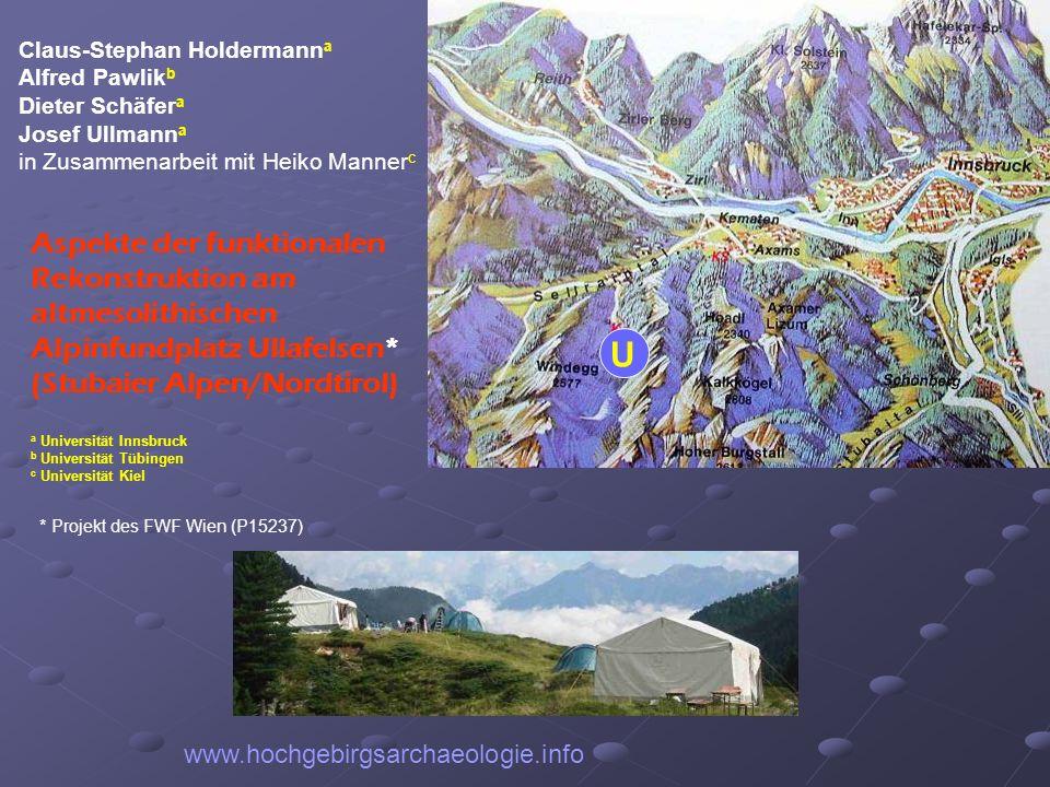 www.hochgebirgsarchaeologie.info Claus-Stephan Holdermann a Alfred Pawlik b Dieter Schäfer a Josef Ullmann a in Zusammenarbeit mit Heiko Manner c Aspe