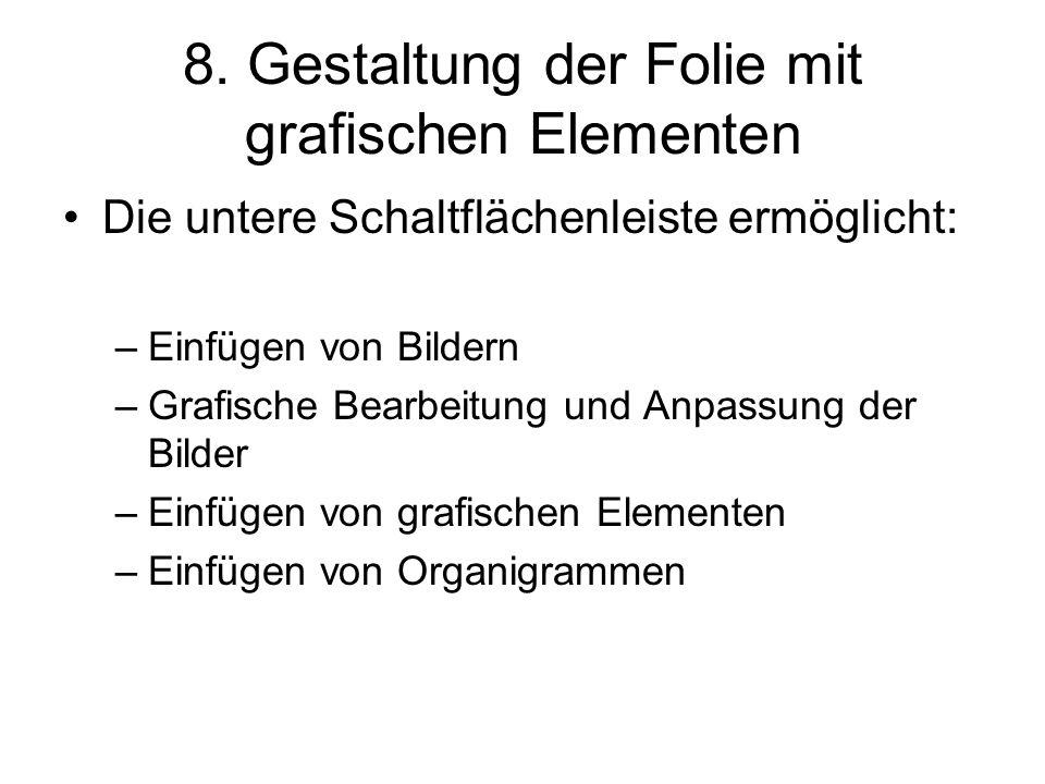 """9.Diagramme, Tabellen 1.""""Einfügen 1.""""Diagramme bzw."""
