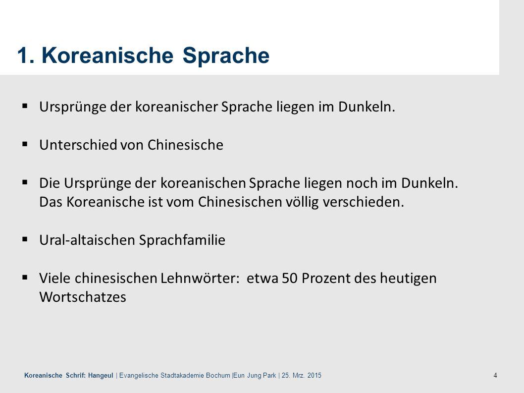 15 Koreanische Schrif: Hangeul | Evangelische Stadtakademie Bochum |Eun Jung Park | 25.