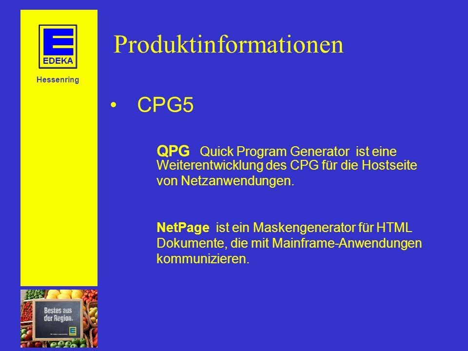 Produktinformationen CPG5 QPG Quick Program Generator ist eine Weiterentwicklung des CPG für die Hostseite von Netzanwendungen.