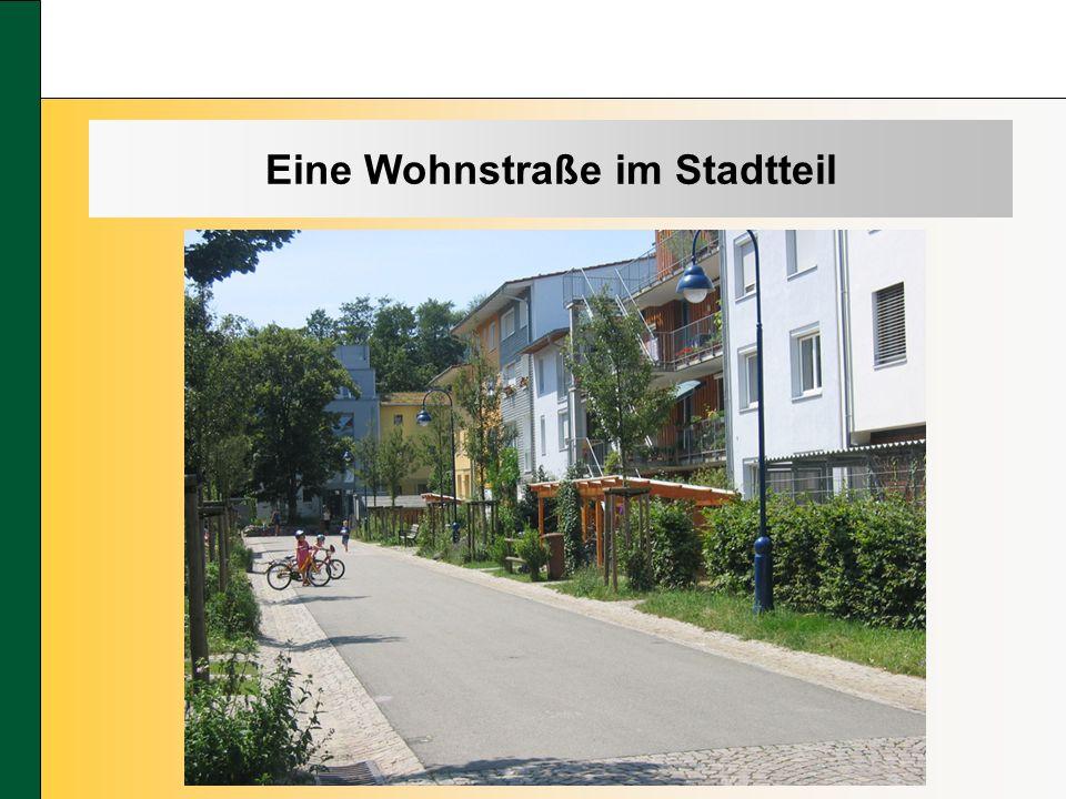 Eine Wohnstraße im Stadtteil