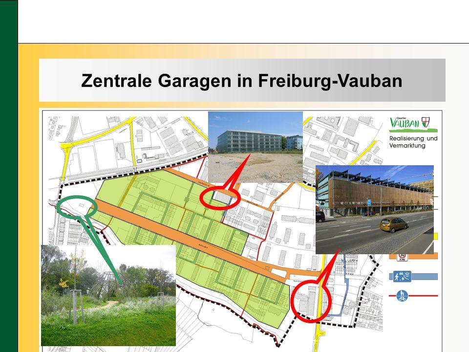 Zentrale Garagen in Freiburg-Vauban