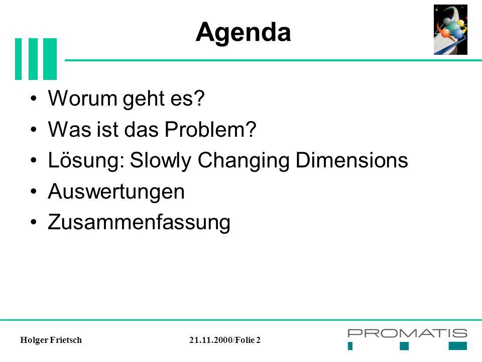 21.11.2000/Folie 2Holger Frietsch Agenda Worum geht es.