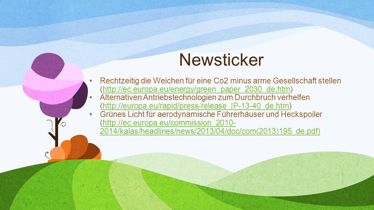 Newsticker Rechtzeitig die Weichen für eine Co2 minus arme Gesellschaft stellen (http://ec.europa.eu/energy/green_paper_2030_de.htm)http://ec.europa.e