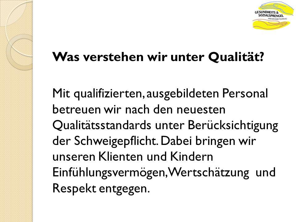 Was verstehen wir unter Qualität.