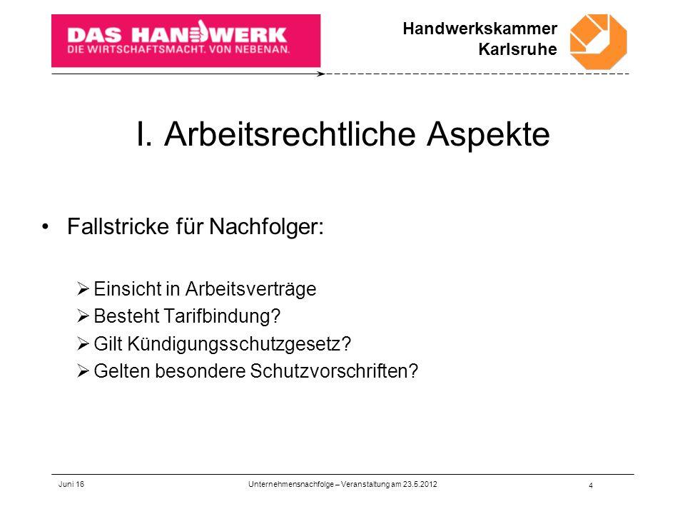 Handwerkskammer Karlsruhe Juni 16 4 I.