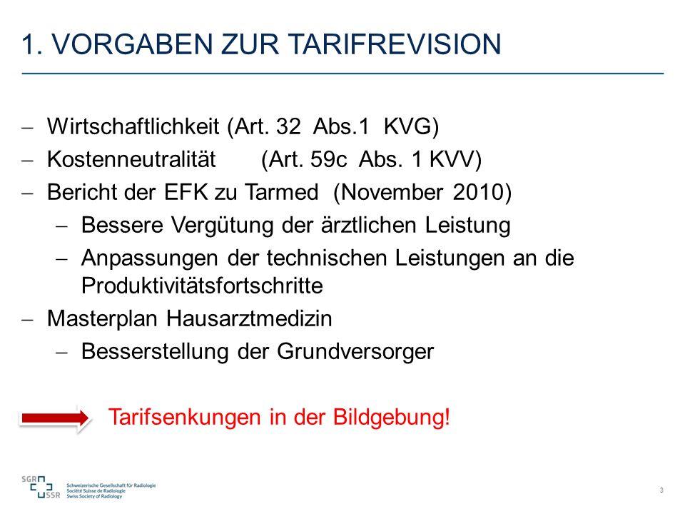 1. VORGABEN ZUR TARIFREVISION  Wirtschaftlichkeit (Art.
