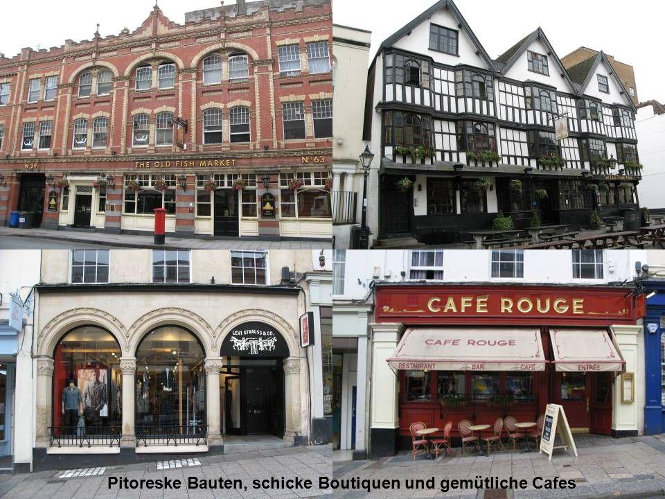 Pitoreske Bauten, schicke Boutiquen und gemütliche Cafes