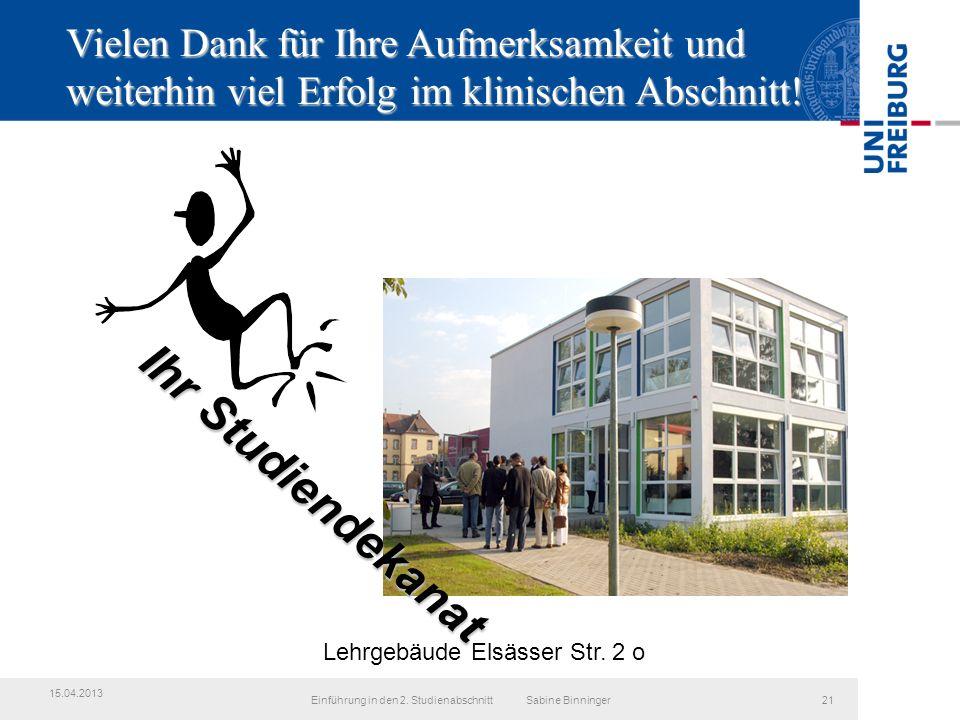 Lehrgebäude Elsässer Str.