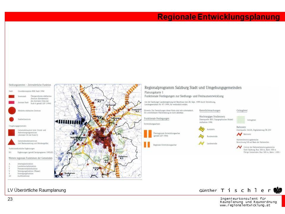 Ingenieurkonsulentfür RaumplanungundRaumordnung www.regionalentwicklung.at Regionale Entwicklungsplanung 23 LV Überörtliche Raumplanung