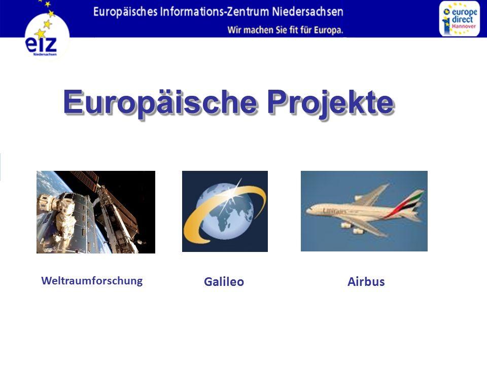 Europäische Projekte Weltraumforschung GalileoAirbus