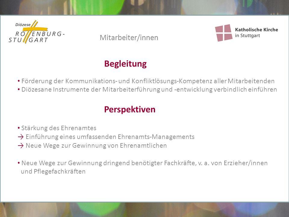 Förderung der Kommunikations- und Konfliktlösungs-Kompetenz aller Mitarbeitenden Diözesane Instrumente der Mitarbeiterführung und -entwicklung verbind